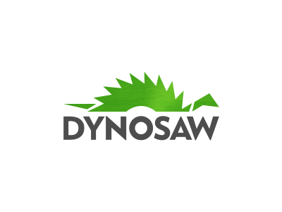 Dynosaw dinosaur dynosaw green saw blade logo sharp