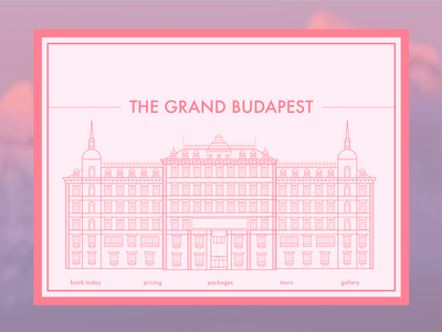 Grand Budapest Hotel Bookings above the fold day 3 ui challenge landing page daily ui grand budapest hotel