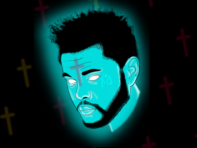 XO vector neon line xo glow illustration starboy hip hop the weeknd