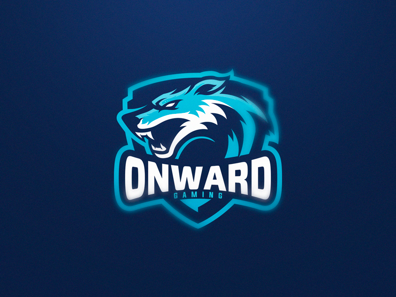Onward Gaming wolf blue wolf sport wolf logo design gaming logo esports sport logo