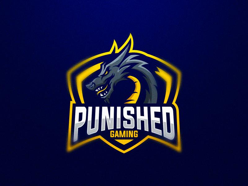 Punished Gaming dragon logo design gaming logo esports sport logo