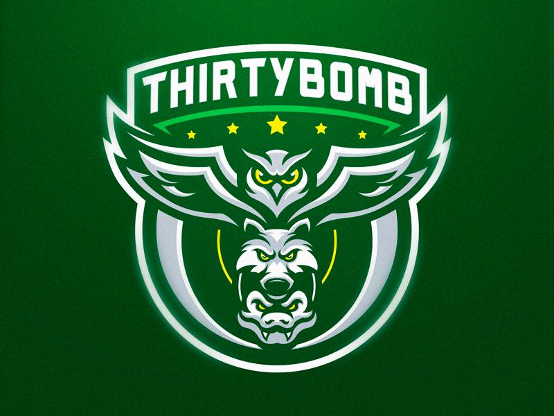Thirtybomb green snake owl wolf sport wolf logo design gaming logo esports sport logo