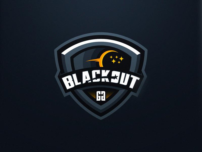 Blackout logo design gaming logo esports sport logo