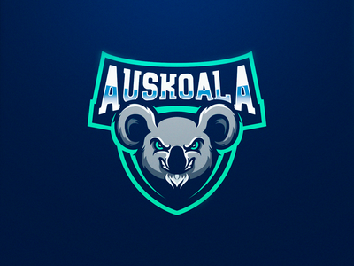 Auskoala auskoala koala logoinspiration logo design gaming logo esports sport logo