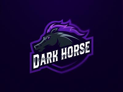 Darkhorse logoinspiration purple dark horse logo design gaming logo esports sport logo