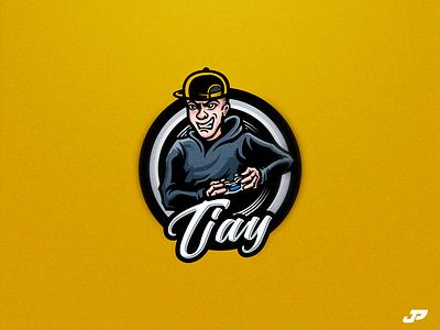 Tjay incontrol gaming tjay player logo design gaming logo esports sport logo