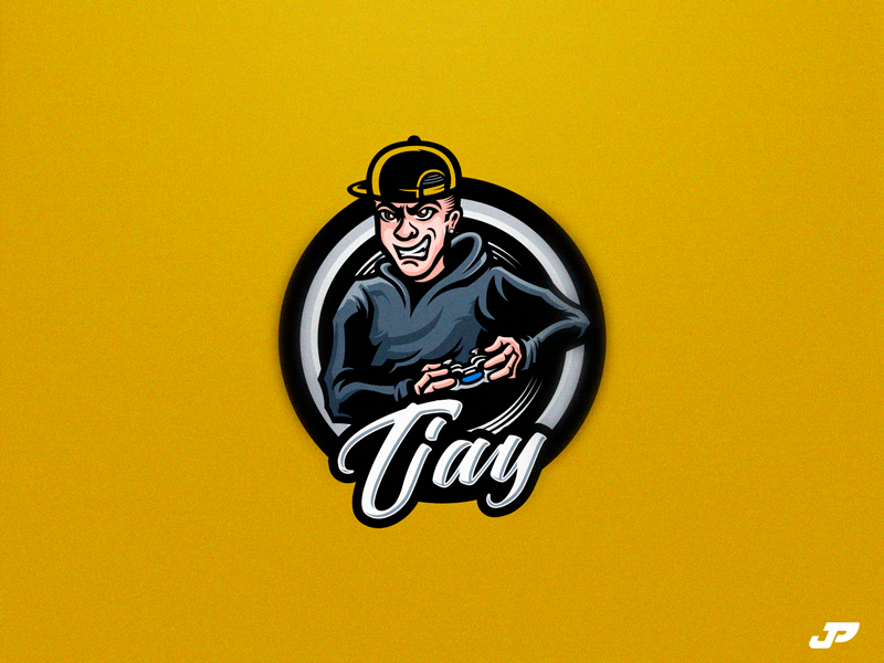 Tjay incontrol gaming tjay player logo design gaming logo esports sport logo
