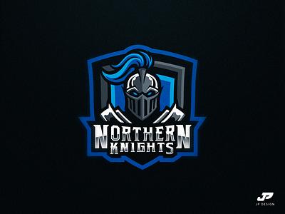 Northern Knights blue custom knights logo design gaming logo esports sport logo