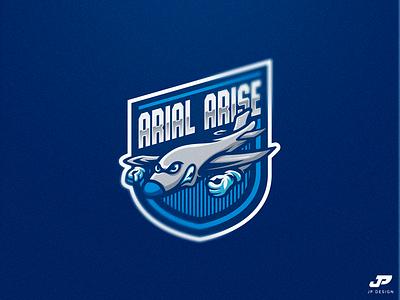 Arial Arise airplane logo design gaming logo esports sport logo