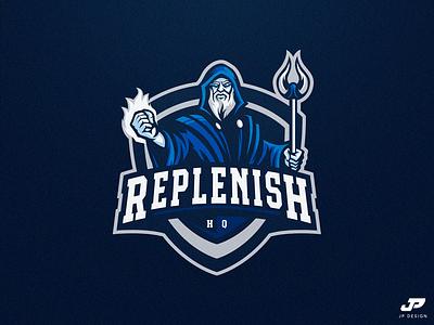 Replenish HQ magic mage logo design gaming logo esports sport logo