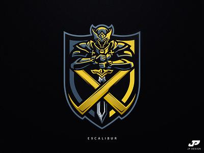 Excalibur knights knight illustration logo gaming logotype gaming logo sport logo logo design esports