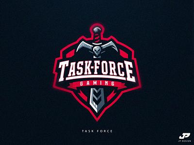Task Force sword logotype gaming logo skull gaming logo sport logo logo design esports