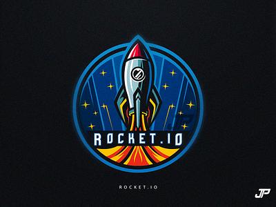 Rocket.Io illustration photoshop illustrator rocket space gaming blue logotype sport logo logo design esports