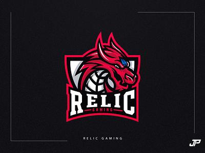 Relic Gaming digital art design dragon branding illustration logotype gaming logo sport logo logo design esports