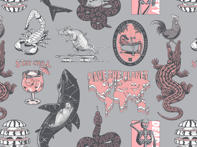 Win Everything pink rooster skull map penguin gator rat illustration sweepstakes giveaways giveaway