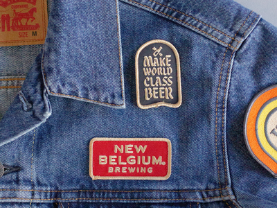New Belgium Jacket pathces cobra horse beer patch jean jacket embroidery illustration