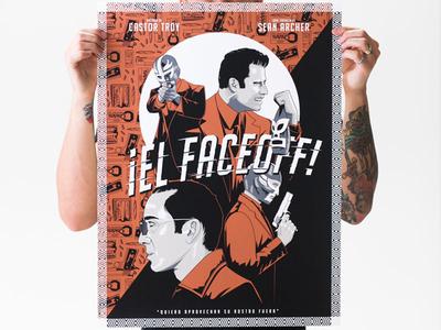 El Faceoff poster illustration