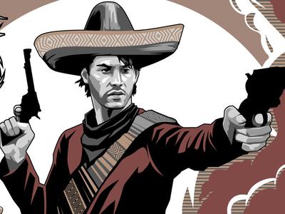 Keanu Bandito mexican poster series