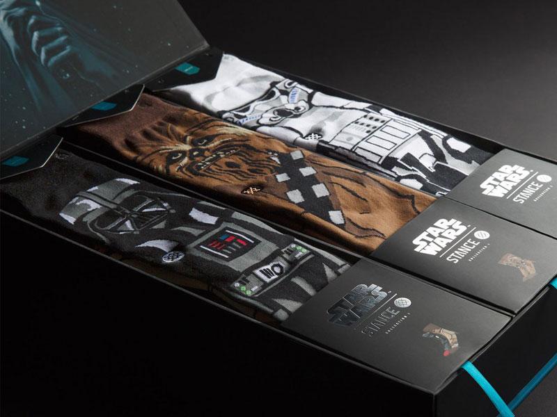 Star Wars X Stance fashion trooper storm vader darth wookiee starwars illustration socks