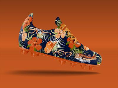 Von Miller espn nfl football repeat hawaiian cleats shoe illustration