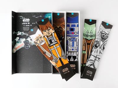 Light Side of the Force yoda skywalker luke solo han wars star stance socks illustration