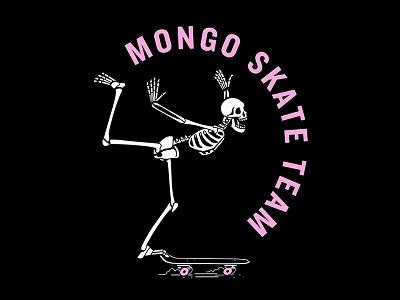 Mongo Skate Club wheels deck skeleton mongo skateboarding