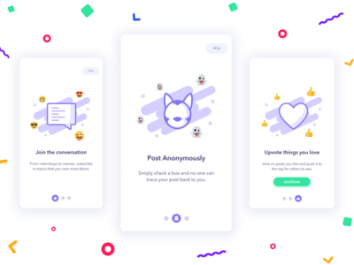 Onboarding Flow debut intro screens android ios app onboarding