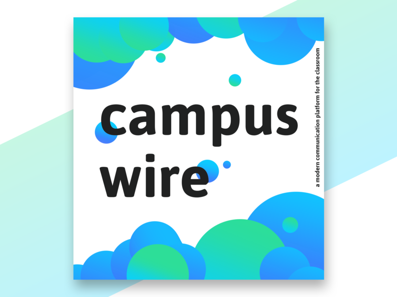 Campuswire message communication campuswire piazza colleges design 2019 illustration gradient clean app ui