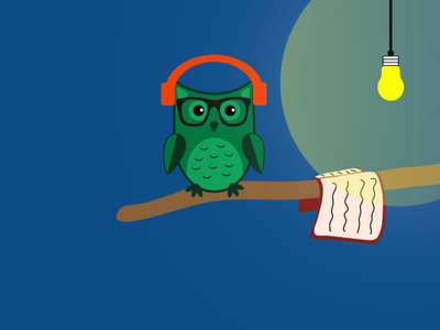 Typical Friday Night book reading headphones music friday owl