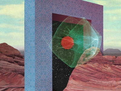 TNPR/P,AZ/2015 architecture radical space mystical epic mountains nature screen print cmyk poster
