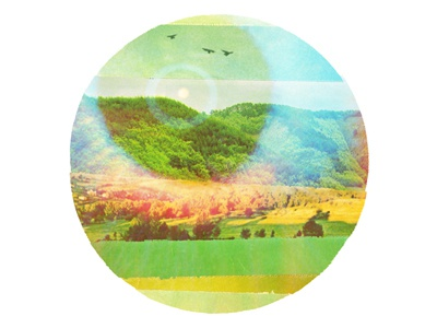 ADT Summer Tour saturated birds sky mountains collage poster nature summer