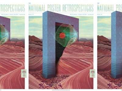 NPR Phoenix 2015 architecture radical space mystical epic mountains nature screen print cmyk poster