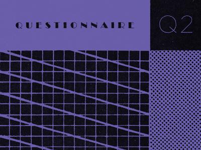 Questionnaire / Stranger in Demand album art grid pop synthesizer music