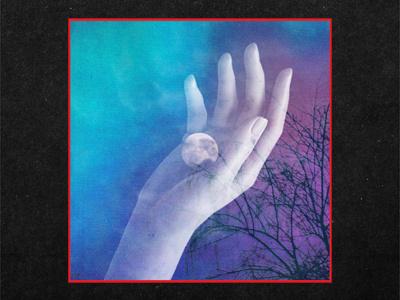 Bell Mountain album art cassette surreal spooky horror creepy trees night moon hand