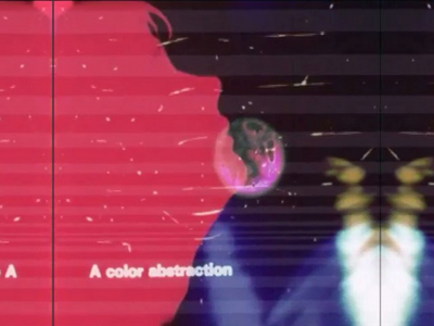 A Color Abstraction (video) video art abstract after effects collage silhouette psychedelic film 16mm