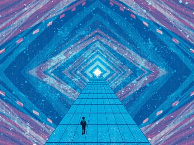 M/US/2016 cosmic screenprint poster