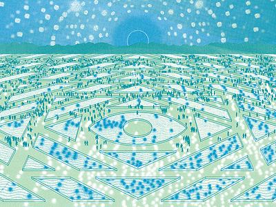 M / DCFC reflections epic eye sky landscape poster screen print