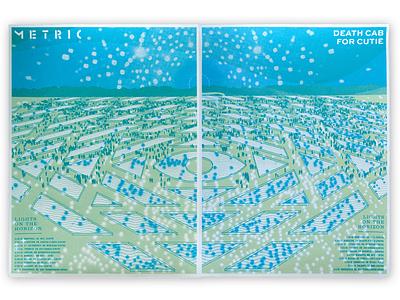 Mdcfc horizon geometric reflections epic eye sky landscape poster screen print