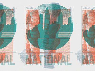 The National tee design buildings skyline new york city overprinting collage the national screenprint design shirt t-shirt