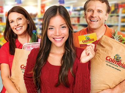 Supermarket Art Direction supermarket food card red