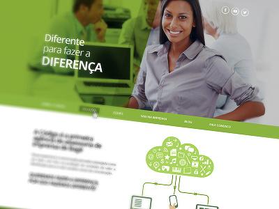 Communication Website communication web green white