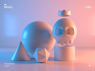 Skull icon app ui illustration