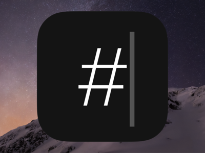 Our hashtag app's icon icon app icon