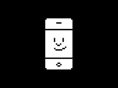 Happy iPhone pixel art icon