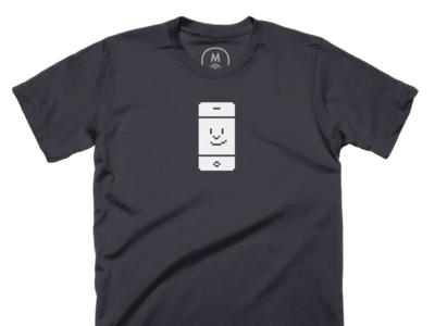 Happy iPhone Shirt pixel art icon shirt