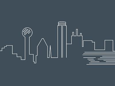 Dallas Skyline illustration skyline dallas