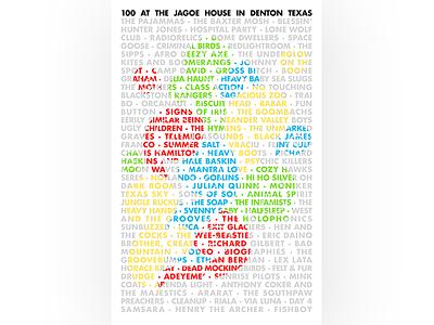 Poster: JAGOE 100 poster
