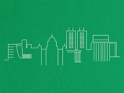 I ♥ Denton skyline illustrative denton