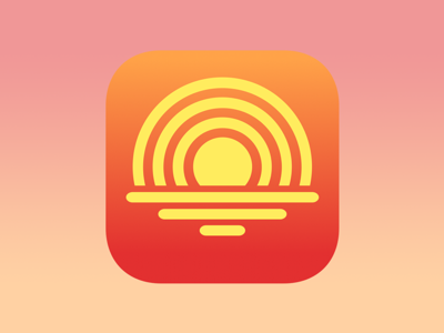 Suncaster: Podcast Player and Organizer (App Icon) icon yellow sunset podcast app icon