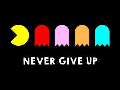 Never Give Up shirt arcade